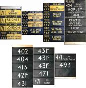 Pair of London Transport/London Country RF coach/bus DESTINATION BLINDS comprising a Green Line