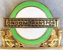 1960s London Transport Country Area Divisional Mechanical Inspector's CAP BADGE issued to the senior