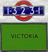 London Underground enamel STOCKNUMBER PLATE '13231' from 1938 P Surface Stock driving motor car plus