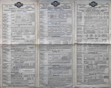 Trio of 1923 London United Tramways (Underground Group) tram stop PANEL TIMETABLES comprising