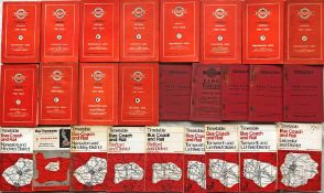 Large quantity (26) of 1950s-1970 Midland Red TIMETABLE BOOKLETS AND FARE TABLE BOOKLETS. Mostly