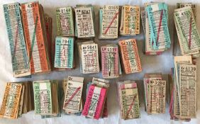Very large quantity (1,500+) of 1940s/50s London Transport Trolleybuses PUNCH TICKETS comprising