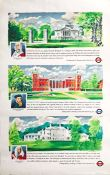 1962 London Transport double-royal POSTER 'Town and Country Houses' by Peter Roberson (1907-1989)
