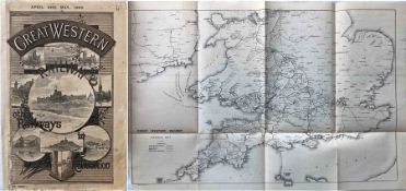 1892 (April & May) Great Western Railway (GWR) TIMETABLES etc BOOKLET 'Great Western Railway & other