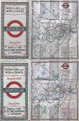 "Pair of 1928 London Underground POCKET MAPS of the Electric Railways of London ""What to see and"