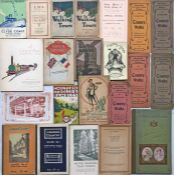 Bundle (22 items) of 1900s-1930s railway & London Underground PUBLICITY ITEMS including Central