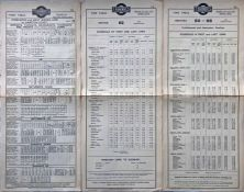 Trio of 1923 Underground Group Tramways tram stop PANEL TIMETABLES comprising London United