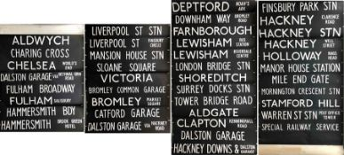 London Transport Routemaster DESTINATION BLIND from Dalston (D) garage dated 11.12.79 and coded '