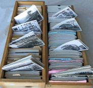 Large quantity (approx 2,400) of b&w, postcard-size BUS & COACH PHOTOGRAPHS including a considerable