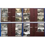 2 large albums of loose-mounted PHOTOGRAPHS/POSTCARDS compiled by the late Alan A Jackson, historian
