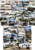 Large quantity (550+) of RAILWAY POSTCARDS & PHOTOS comprising 300+ postcards of UK railways and