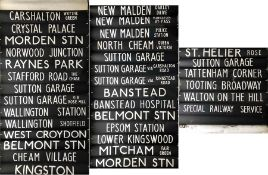 London Transport DESTINATION BLIND for a DMS-class vehicle at Sutton (A) garage dated 13.9.79 and