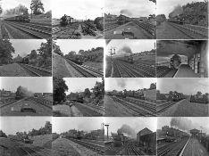Quantity (100+) of 1940s/50s b&w STEAM RAILWAY NEGATIVES (120-size, 6cm x 4.5cm) taken by the