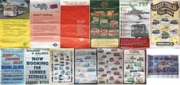 Selection (13) of miscellaneous double-crown & double-royal TRANSPORT POSTERS, mainly 1960s/70s,