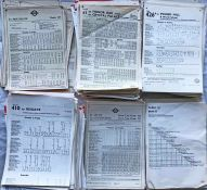Very large quantity (approx 600) of 1940s-90s London Transport BUS STOP PANEL TIMETABLES and