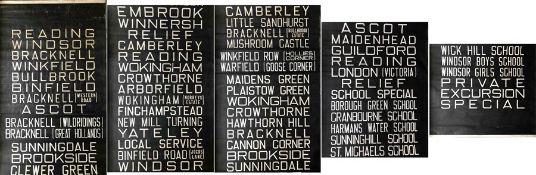 Thames Valley Traction Company bus DESTINATION BLIND. A lengthy blind, complete and generally in