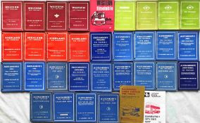 Large quantity (32) of 1950s-70s (mostly 1950s-early 1960s) Scottish BUS TIMETABLE BOOKLETS from