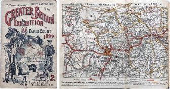 1899 District Railway illustrated GUIDE to the Greater Britain Exhibition at Earl's Court. 56pp