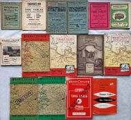 Bundle (15) of 1920s-60s Bus etc TIMETABLE BOOKLETS etc incl c1925 Daily Express Motor Char-a-Banc