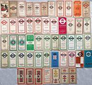 Bundle (51) of 1919/20-1960s LGOC/London Transport POCKET MAPS including Central Buses, Country