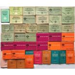 Bundle (41) of 1930s-60s London Transport LOCAL ROAD & RAIL TIMETABLE BOOKLETS. A wide variety of