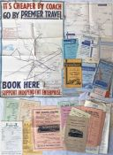 Quantity (45) of 1930s-60s TIMETABLE LEAFLETS & PAMPHLETS from East Anglian independent bus &