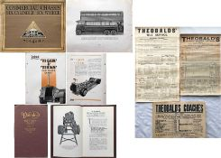 Early bus ephemera comprising MANUFACTURERS' BROCHURES: 1929 Sunbeam 6-Cylinder, 6-Wheel Chassis,
