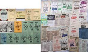 Bundle (46 items) of 1930s-60s Southdown Motor Services TOUR BROCHURES, ROUTE MAPS, EXCURSION