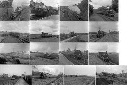 Quantity (100+) of 1940s/50s b&w STEAM RAILWAY NEGATIVES (120-size, 6cm x 4.5cm & 9cm x 6cm) taken