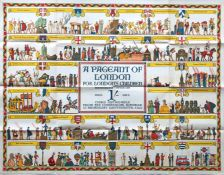1926 London Underground quad royal POSTER 'A Pageant of London - for London's Children' by Elijah