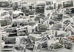 Very large quantity (approx 1,100) of 1930s-50s (mainly) Southdown Motors Services postcard-size B&W