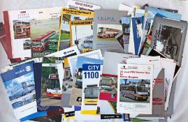Large quantity (c120) of BUS & COACH MANUFACTURER'S BROCHURES & PAMPHLETS dating from the 1960s to