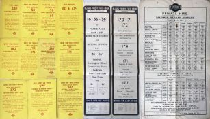 Selection of London tram, trolleybus, bus EPHEMERA comprising 11 x 1959/60 'Buses for