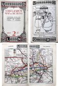 c1909 London Underground STREET & RAILWAY MAP. A 54-page booklet featuring prominent use of the then
