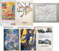 Selection (12) of 1980s/90s POSTERS incl London Transport/London Underground 'Great Bear' by Simon