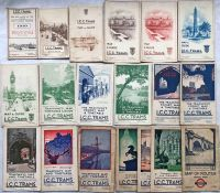 Quantity (19) of 1919-1933 LCC Tramways POCKET MAPS (the last issued by LT). A couple are well-