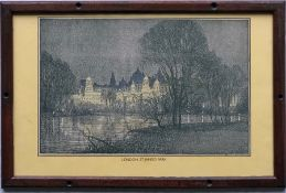 Southern Railway CARRIAGE PRINT 'St James's Park' by Donald Maxwell from the original SR series