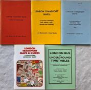 Selection (5) of CATALOGUES of London Transport maps and timetables comprising 3 x 'Burwood &