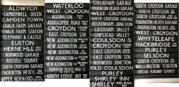 London Transport DESTINATION BLIND for RM, DM & DMS vehicles at Croydon (TC) garage. Coded 'NN'