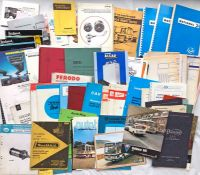Large quantity (100+) of mainly 1960s-80s bus & coach VEHICLE & PARTS MANUFACTURERS' MANUALS &