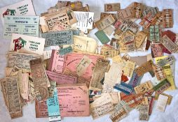Considerable quantity (est. several hundred) of mostly 1940s/50s foreign TRANSPORT TICKETS incl
