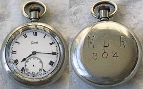 Early 20th century Metropolitan District Railway (today's District Line) POCKET WATCH engraved 'M