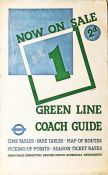"1936 London Transport double-royal POSTER 'Now on Sale, Green Line Coach Guide No 1' by ""Beath"""