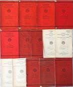 Complete run (14) of London Transport ANNUAL REPORTS for the period 1934-47. A full set of issues