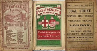 Selection (3) of Great Western Railway (GWR) items comprising c1900 ILLUSTRATED GUIDE with views &