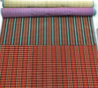 2 sections of famous London Transport SEAT MOQUETTE comprising approx 3.5 metres of the