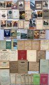 Large quantity (55+) of 1920s onwards RAILWAY EPHEMERA incl guidebooks (Rambles, Holidays, '
