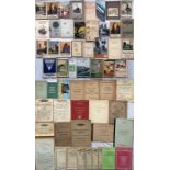 Large quantity (55+) of 1920s onwards RAILWAY EPHEMERA incl guidebooks (Rambles, Holidays, '