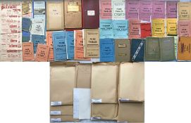 Large quantity of Aldershot & District/Alder Valley Head Office archive material incl MASTER FARE