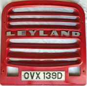 Colchester Corporation Transport Leyland PD2/Massey RADIATOR GRILLE from 1966-built No 39. The